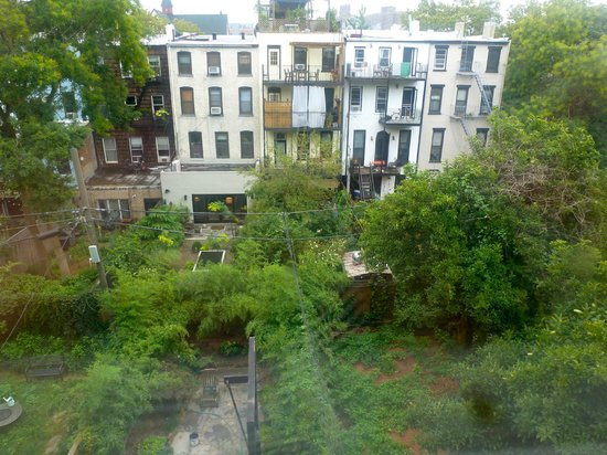 Lefferts Manor Bed & Breakfast: The view from our windows in the Vanderbilt Suite