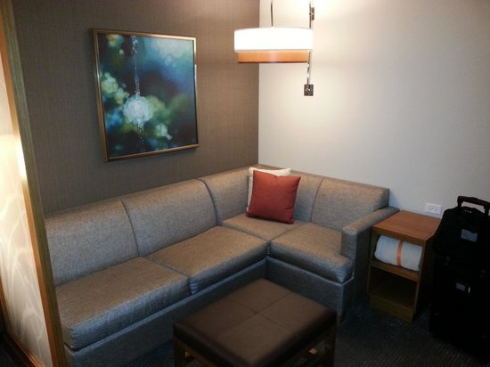 Hyatt Place Chicago / River North : Sofa! No need to sit on the bed the whole time.