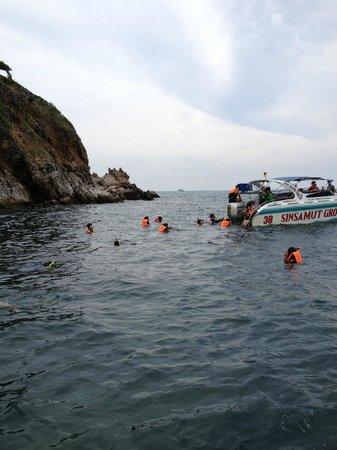 Vongdeuan Resort: One of the islands we snorkeled at.