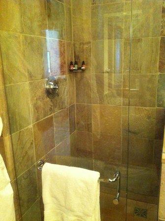 Four Seasons Resort and Residences Whistler: Glassed-in shower.