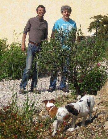 La Bastide des Templiers : Joel,Harald,Foxy und mein Schatz Carnelle