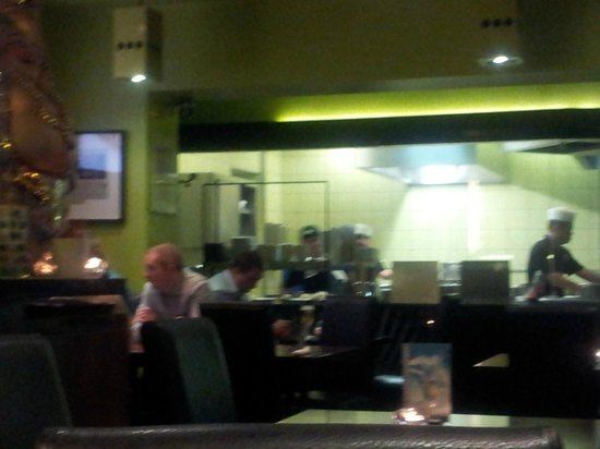 Mr Hai & Friends: The kitchen  from our table.