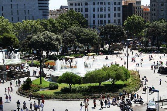 Hotel Ginebra view on Plaza Catalunya