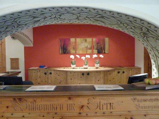 Romantik Hotel Stern: Reception at Romantik Stern