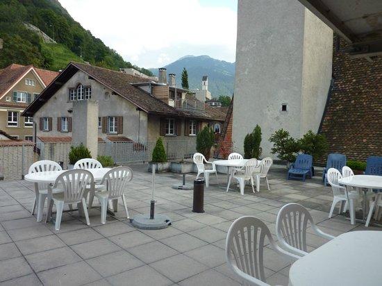 Romantik Hotel Stern: roof terrace