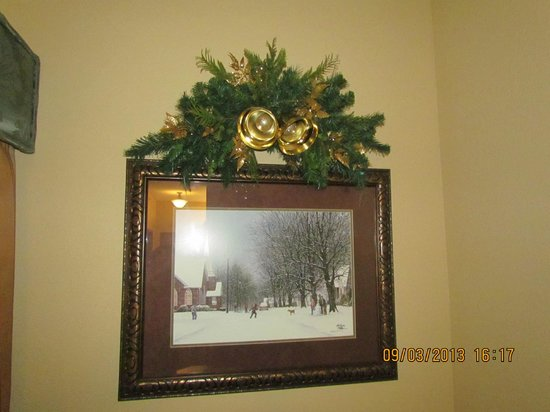 The Inn at Christmas Place: Portrait on Wall near Window, Room #418