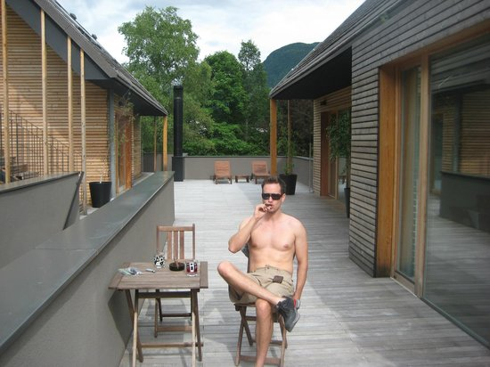 Hotel Sanje Ob Soci: Cigars on the deck after a long hike