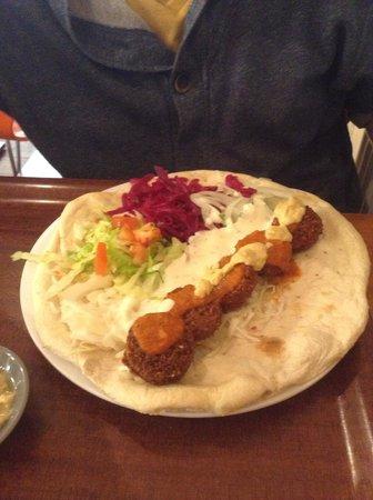 Falafel and Kebab: Falafel sandwich