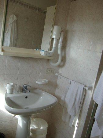 Hotel Palace: bagno piccolo ma pulito