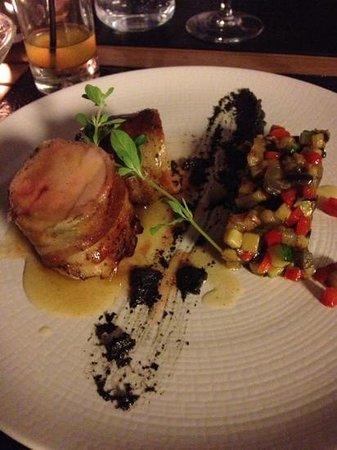Terramea : mignon de porc tapenade et légumes confits