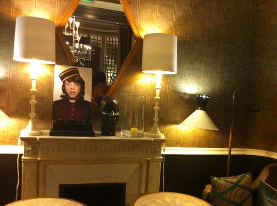 Hotel Recamier : détail de la déco