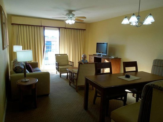 Wyndham Palm-Aire: Comfortable living area