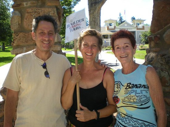 Boulder Walking Tours: The Dining Hall at Chatauqua with Lori and my son, Joshua