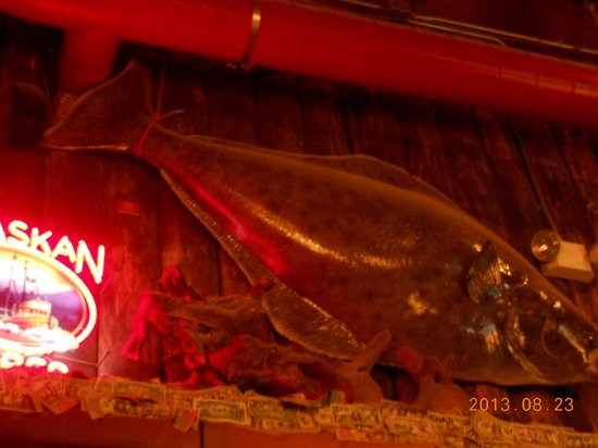 Red Dog Saloon: Halibit over bar