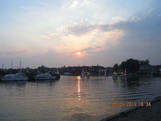 The Swan Inn: Sunset at the Swan.