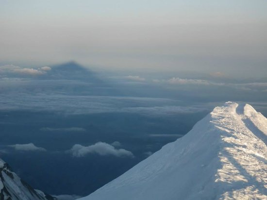 Mont Blanc shadow from top
