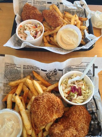 Alaska Fish House: Two orders of the fish and chips (halibut)
