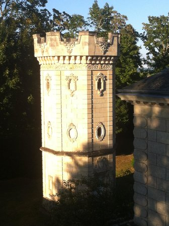 Chateau Pomys: A view of the Turret from my window