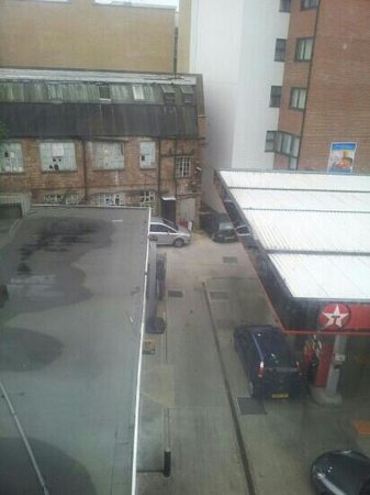 City Inn Express: The view from my room. Tramp usually lurks on this forecourt.