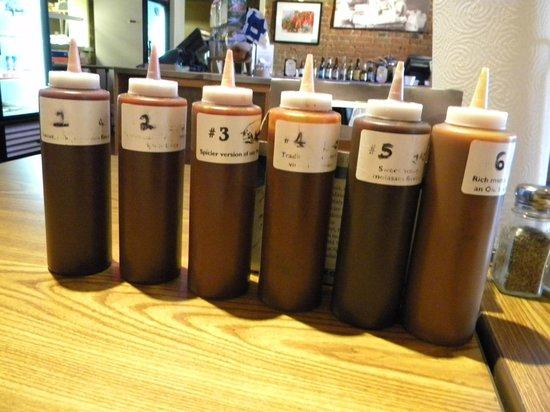 Whole Hog Cafe: 6 sauces