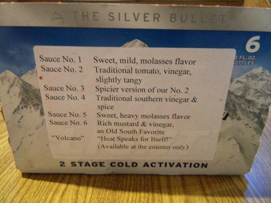 Whole Hog Cafe: description of the sauces