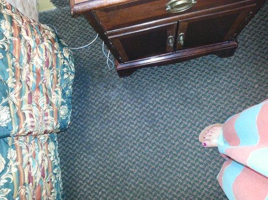 Days Inn Burleson FT. Worth: lumpy cracking gross floors