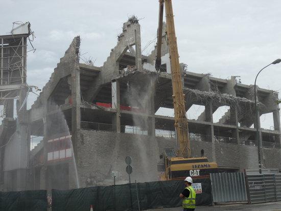 NH Bilbao Zubialde: Bouw van het stadion tegenover het hotel