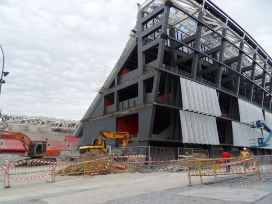 NH Bilbao Zubialde: bouw van het nieuwe stadion