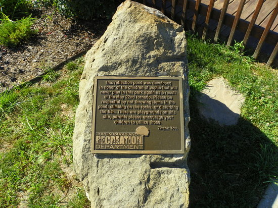 Cunningham Park: Children's Memorial plaque