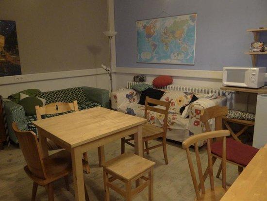 Backpackers Bamberg: la sala comune-cucina