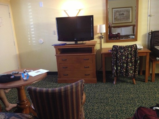 Anaheim Del Sol Inn: LCD Flatscreen.  Lot's of room.