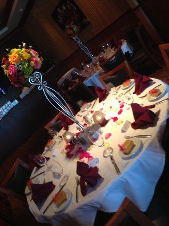 Belle Vie European Bistro: Our private room