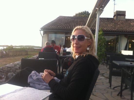Villa St. Simon : The terrace bar at the Logis