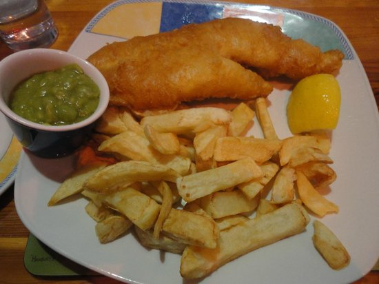 Hanbury's Famous Fish & Chips: Fish was good, others not really.