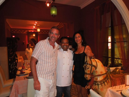 Basmati Indian Restaurant: A Brilliant Chef...Thank you so much for your hospitality.