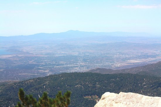 Mount San Jacinto State Park and Wilderness: View of Hemet, CA