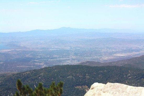 Mount San Jacinto State Park and Wilderness : View of Hemet, CA