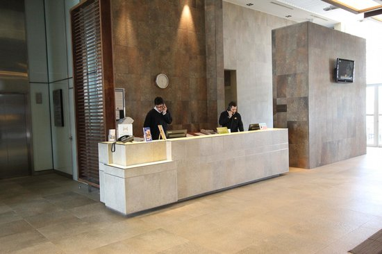 Hilton Garden Inn Santiago Airport: Front Desk reception
