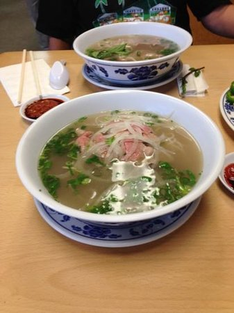 Rare steak beef pho picture of pho kauai lihue for Asian cuisine kauai