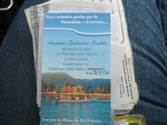 Hotel Backpackers & Restaurant : the tour guides card