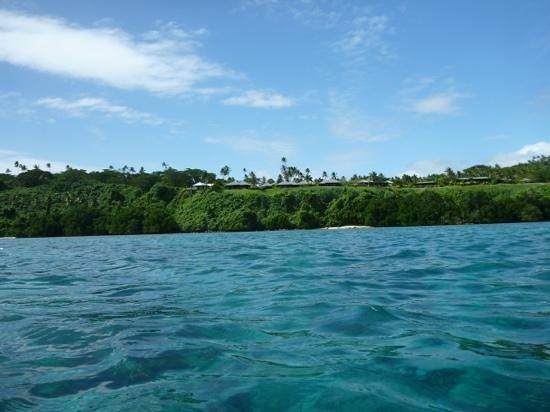 Taveuni Island Resort & Spa: resort view from the kayaks