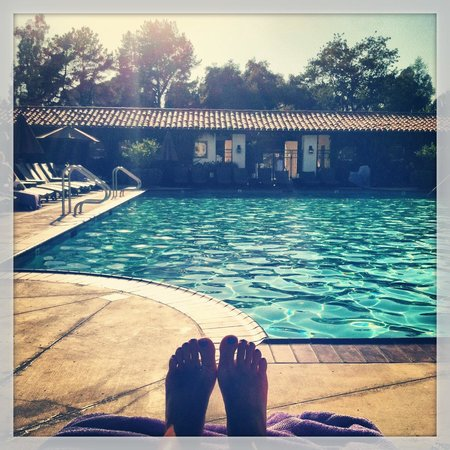 Ojai Valley Inn & Spa: The Herb Garden Pool! Our favorite part!