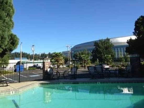 BEST WESTERN Greentree Inn : View of arena from hotel pool