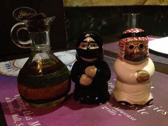 Souq - The Restaurant : Loved these Salt & Pepper Shakers!