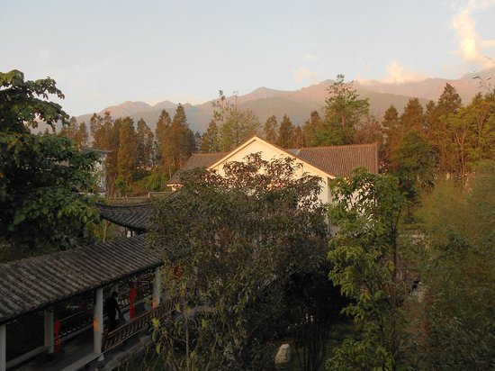 Gurong Hotel : 4. Sunset view from window