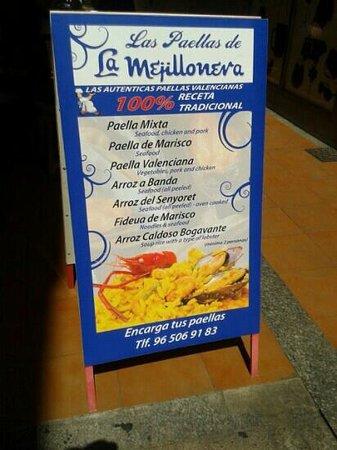 La Mejillonera: cartel anunciador