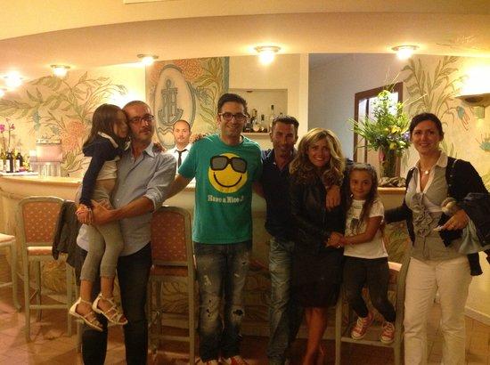 Hotel Palau: con Matteo