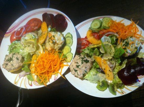 Spey River Bar Brasserie: Les salades!!!