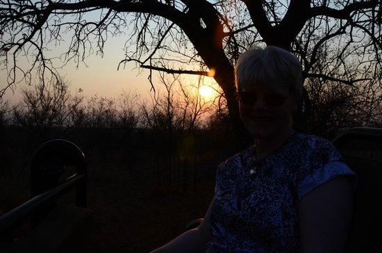 Sundowners at sunset