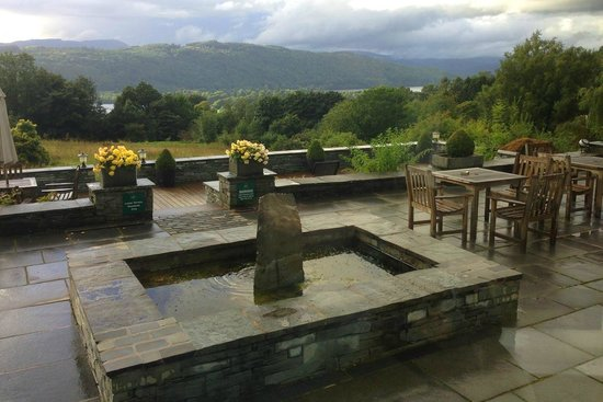 Linthwaite House: View from the sun lounge terrace